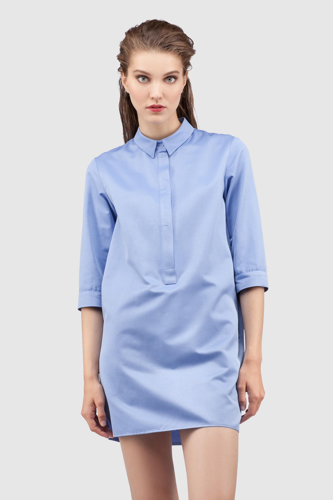 РубашкаУдлиненная рубашка из хлопка&#13;<br>&#13;<br>&#13;<br>застегивается на пуговицы&#13;<br>&#13;<br>рукава 3/4&#13;<br>&#13;<br>прямой силуэт&#13;<br>&#13;<br>длина рубашки по спинке — 80 см&#13;<br>&#13;<br>ФИНАЛЬНАЯ РАСПРОДАЖА - обмену и возврату не подлежит!<br><br>Цвет: Васильковый<br>Размер: XS, S<br>Ростовка: 176 -182, 164 -170